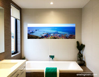 Picturesque portsea print on a wall