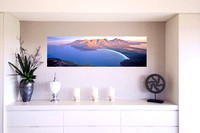 Wineglass Bay print hung on a wall